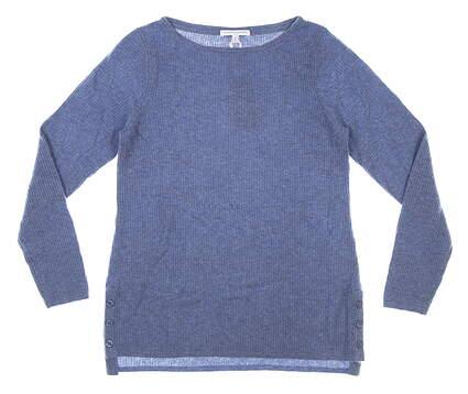 New Womens Fairway & Greene Adele Cashmere Sweater Medium M Pacific MSRP $300 I12272