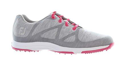New Womens Golf Shoe Footjoy Leisure Narrow 7.5 Gray/Pink MSRP $110 92903