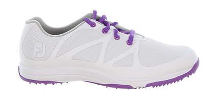 New Womens Golf Shoe Footjoy Leisure Wide 6 White/Purple MSRP $110 92901