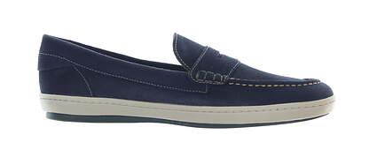 New Mens Shoe Martin Dingman Thurston Penny Loafer Medium 10 Blue MSRP $220 530367M