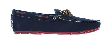 New Mens Shoe Handcrafted Classics Suede Loafer 8.5 Medium Navy MSRP $175 171-50
