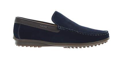 New Mens Shoe Oxford Suede Loafer Medium 8 Blue MSRP $200 F7PL05