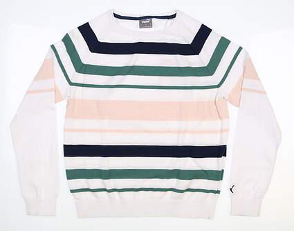 New Womens Puma Sweater Small S Blue Spruce MSRP $80 599268