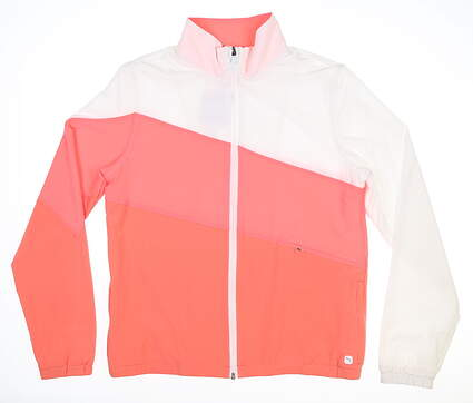 New Womens Puma Track Jacket Small S Georgia Peach/Ignite Pink MSRP $90 599270