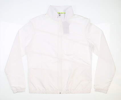 New Womens Puma Wind Jacket Small S White MSRP $90 530155