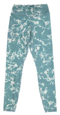 New Womens Puma Print Leggings Small S Blue Spruce MSRP $70 599264