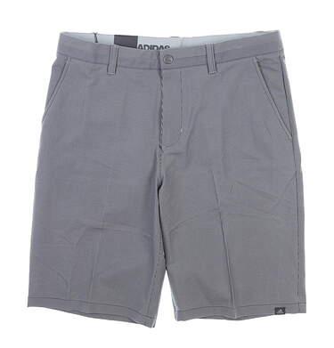 New Mens Adidas Pinstripe Golf Shorts 33 Gray MSRP $75 CD9885