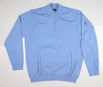 New W/ Logo Mens Greg Norman Sweater Large L Blue MSRP $140