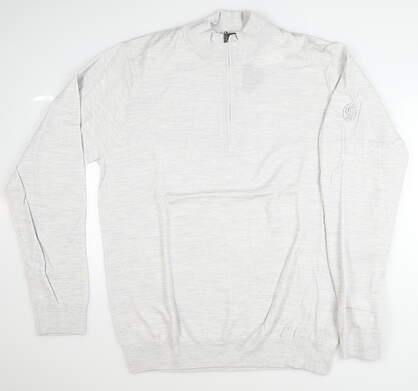 New W/ Logo Mens Greg Norman Sweater Large L Gray MSRP $110