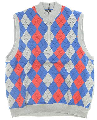 New W/ Logo Mens Greg Norman Sweater Vest Large L Multi MSRP $100