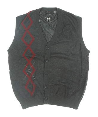 New W/ Logo Mens Greg Norman Sweater Vest Large L Multi MSRP $60