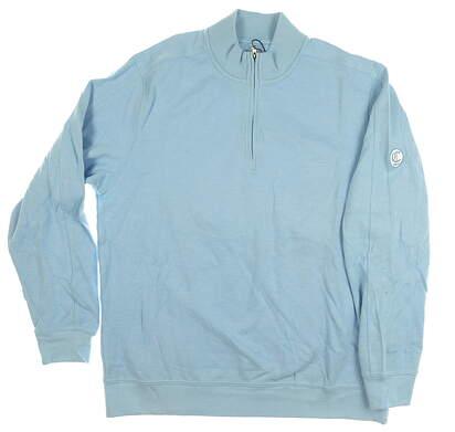New W/ Logo Mens Greg Norman 1/4 Zip Sweater Large L Blue MSRP $80