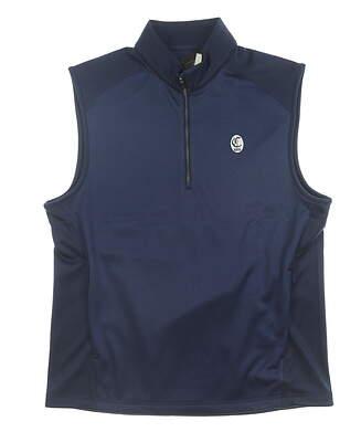 New W/ Logo Mens Greg Norman Tech Performance Vest Medium M Navy Blue MSRP $95 G7F9V048