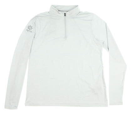 New W/ Logo Womens Under Armour 1/4 Zip Golf Pullover Large L Gray MSRP $70