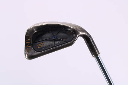 Ping ISI Nickel Single Iron 7 Iron Stock Steel Shaft Steel Wedge Flex Right Handed Blue Dot 36.75in