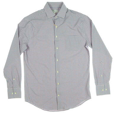 New Mens Peter Millar Button Up Small S Pink MSRP $120