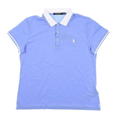 New Womens Ralph Lauren Golf Polo Large L Blue MSRP $85