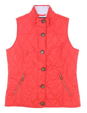 New Womens Ralph Lauren Polo Golf Vest Large L Red MSRP $198