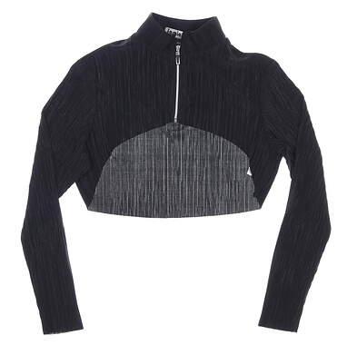New Womens Jamie Sadock Long Sleeve Small S Black MSRP $85