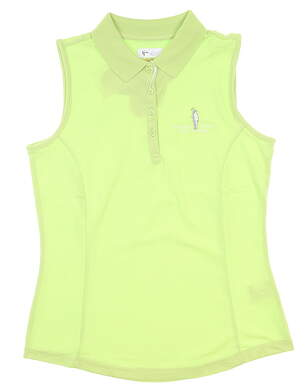 New W/ Logo Womens Greg Norman Sleeveless Polo Small S Green MSRP $39