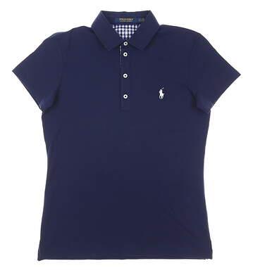 New Womens Ralph Lauren Golf Polo Small S Navy Blue MSRP $98