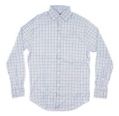 New Mens Peter Millar Button Up Small S Multi MSRP $135