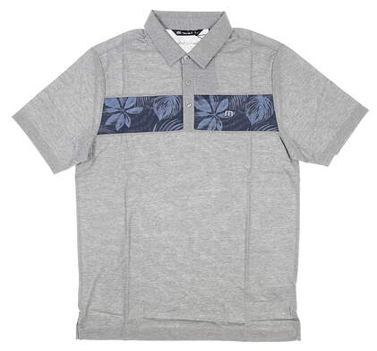 New Mens Travis Mathew Everything is Kewl Golf Polo Small S Gray MSRP $85 1MR129