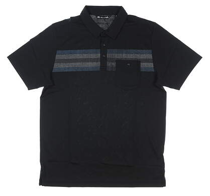 New Mens Travis Mathew Fojo Golf Polo Small S Black MSRP $85 1MQ064
