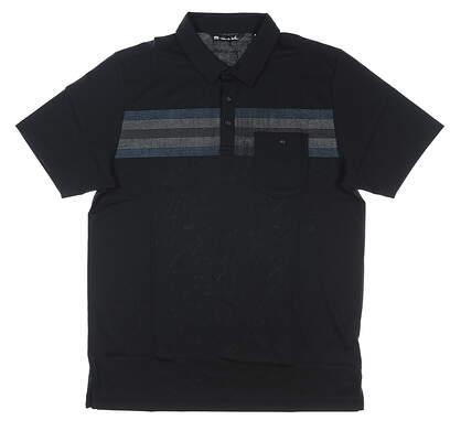 New Mens Travis Mathew Fojo Golf Polo XX-Large XXL Black MSRP $85 1MQ064