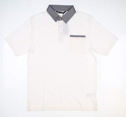 New Mens Travis Mathew Secret Spot Golf Polo Small S White MSRP $85 1MR109