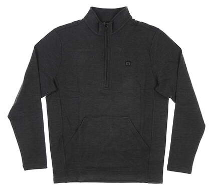 New Mens Travis Mathew Thats the One 1/2 Zip Pullover Small S Gray MSRP $150 1MR241