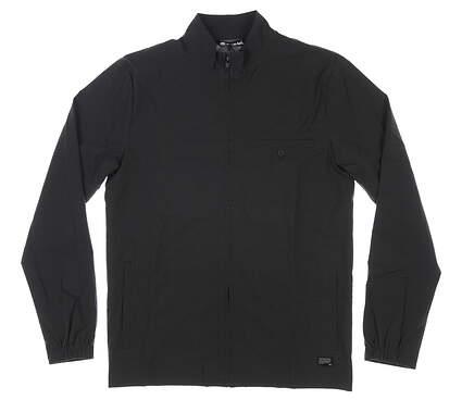 New Mens Travis Mathew Mic Check Jacket Large L Black MSRP $150 1MS262