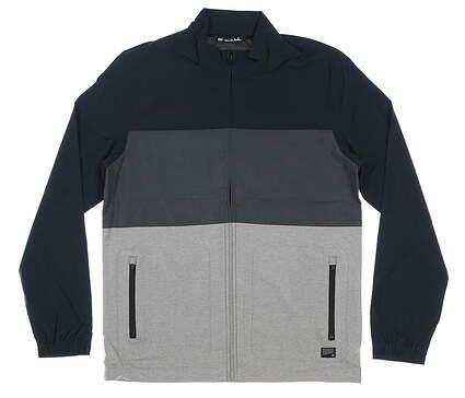 New Mens Travis Mathew Johnson Jacket Large L Blue/Gray MSRP $150 1MR451