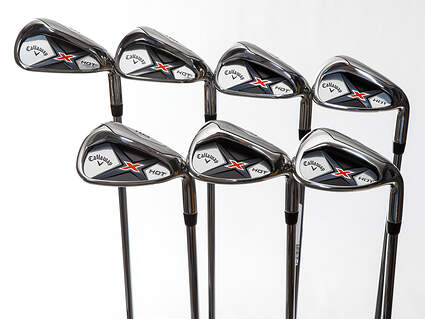 New Callaway X Hot 19 Iron Set 5-PW GW True Temper XP 85 Steel Regular Right Handed 38.25in