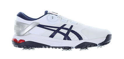 New Mens Golf Shoe Asics GEL-COURSE DUO BOA Medium 9.5 White/Blue MSRP $180 1111A073-100