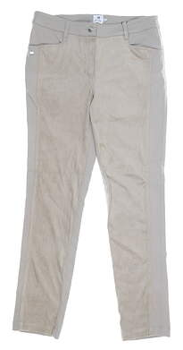 New Womens Daily Sports Cropped Pants 6 Tan MSRP $130 863/233