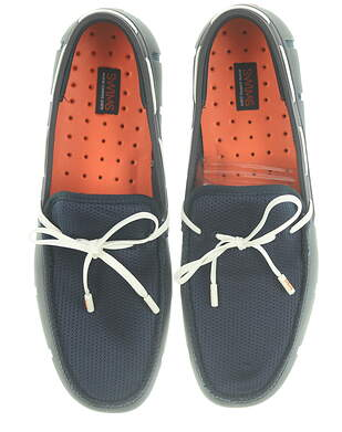 New Mens Golf Shoe Swims Lace Loafer 11 Navy Blue/White MSRP $150