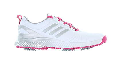New Womens Golf Shoe Adidas Response Bounce Medium 6.5 White/Pink MSRP $85 AC8283