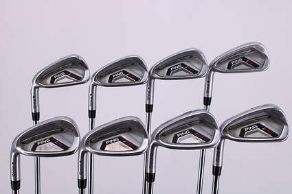 Ping I25 Iron Set 3-PW Ping CFS Steel Stiff Left Handed Maroon Dot 38.75in