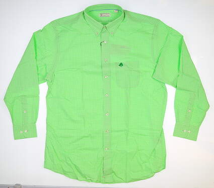 New W/ Logo Mens DONALD ROSS Button Up Large L Green MSRP $102 DR349