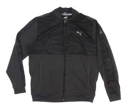 New W/ Logo Mens Puma Cloudspun Camo Golf Jacket Medium M Gray MSRP $85 597590