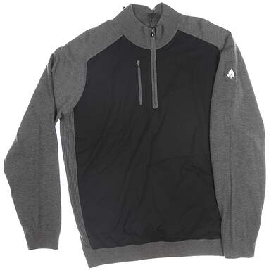 New W/ Logo Mens Footjoy 1/2 Zip Pullover X-Large XL Black MSRP $168 25072