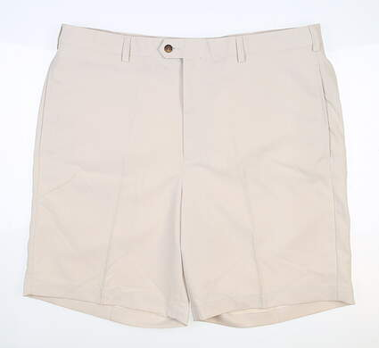 New W/ Logo Mens DONALD ROSS Shorts 42 Tan MSRP $98