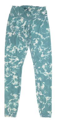 New Womens Puma Print Leggings Small S Green MSRP $70 599264
