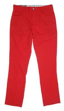 New Mens Puma 5 Pocket Pants 32 x32 Red MSRP $80 577975
