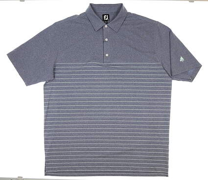 New W/ Logo Mens Footjoy Lisle Golf Polo XX-Large XXL Blue MSRP $82 26191