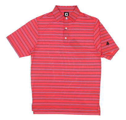 New W/ Logo Mens Footjoy Lisle Golf Polo Small S Red MSRP $78 26012