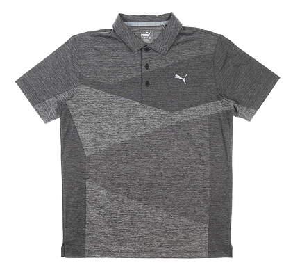 New Mens Puma Alterknit Jacquard Polo Medium M Gray MSRP $65 597122