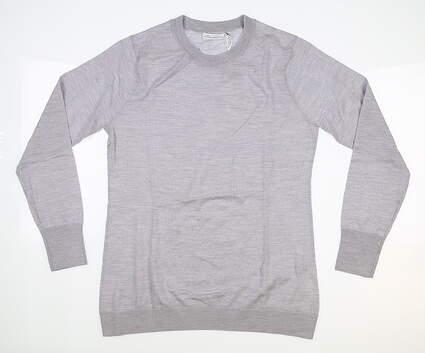 New Womens Peter Millar Merino Wool Sweater Small S Gray MSRP $159 LF18S10