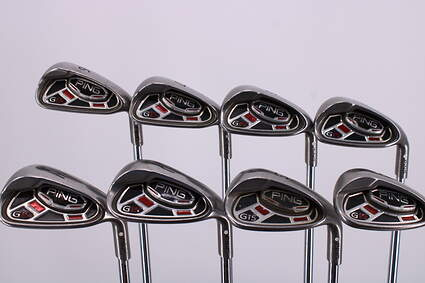 Ping G15 Iron Set 6-PW GW SW LW Ping AWT Steel Stiff Right Handed White Dot 38.25in